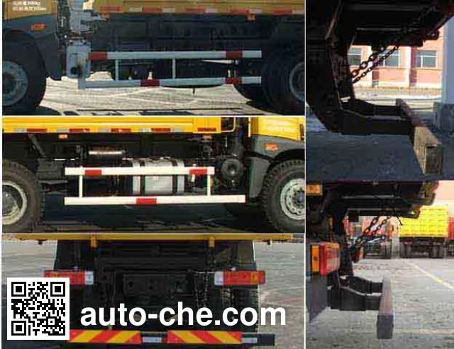 解放牌CA3253P7K1T1E6×4平头柴油自卸汽车