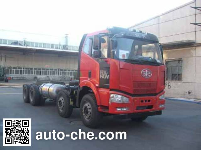 FAW Jiefang CA3310P66L7BT4AE22M5 natural gas cabover dump truck chassis