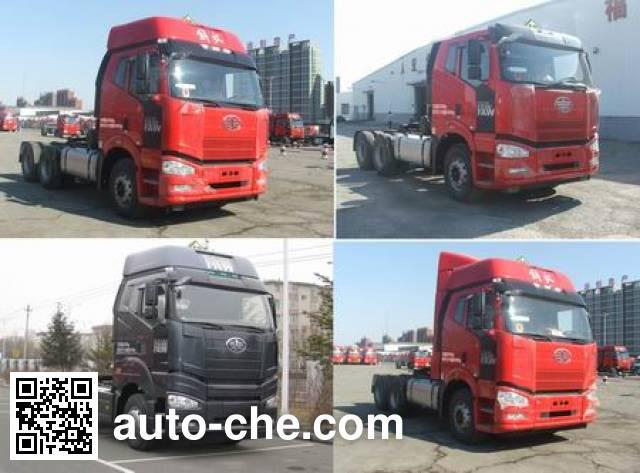 FAW Jiefang CA4250P66K24T1E4Z dangerous goods transport tractor unit