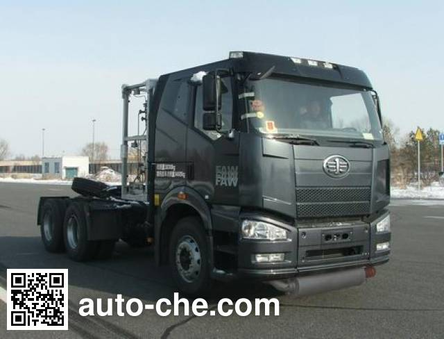 FAW Jiefang CA4250P66T1A2E24M4X natural gas cabover container tractor unit