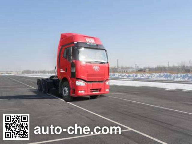 FAW Jiefang CA4250P66T1A1EM4 natural gas cabover tractor unit