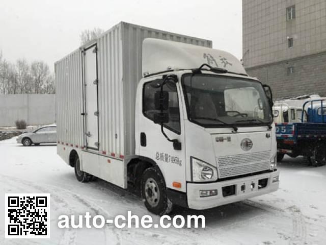 解放牌CA5071XXYP40L1EVA84-3纯电动厢式运输车