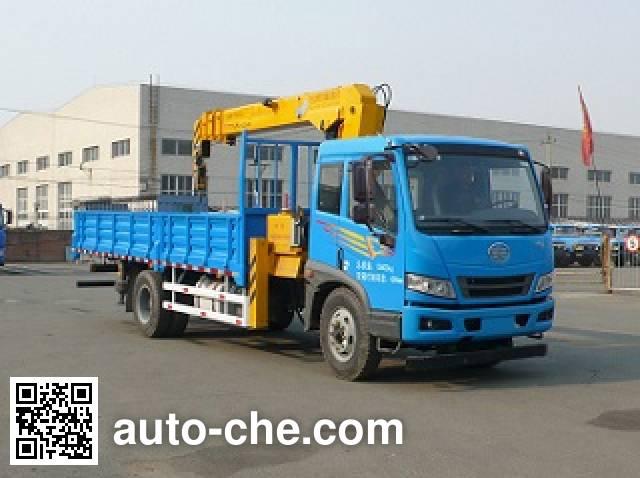 FAW Jiefang CA5160JSQA70E4 truck mounted loader crane
