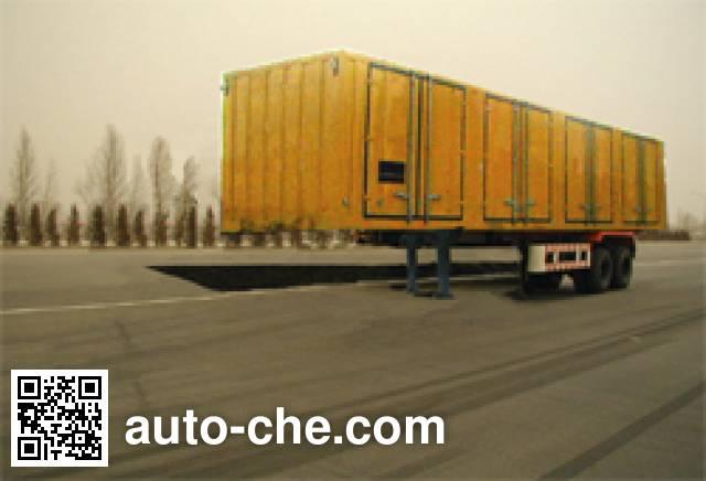 FAW Jiefang CA9210XXY box body van trailer