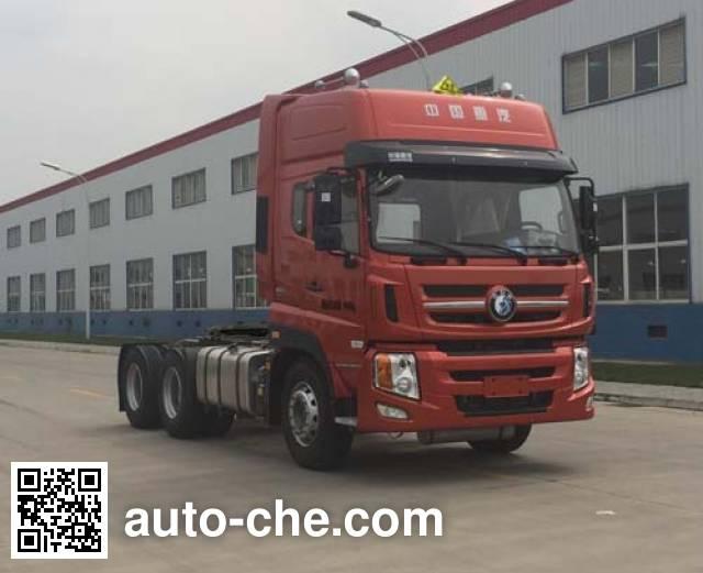 Sinotruk CDW Wangpai CDW4250A1T5W dangerous goods transport tractor unit