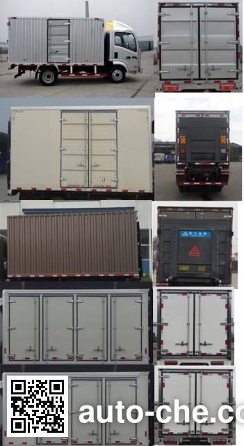 Sinotruk CDW Wangpai CDW5160XXYA1R5 box van truck