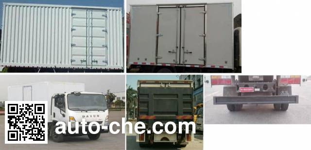 Dayun CGC5142XXYHDE39E box van truck