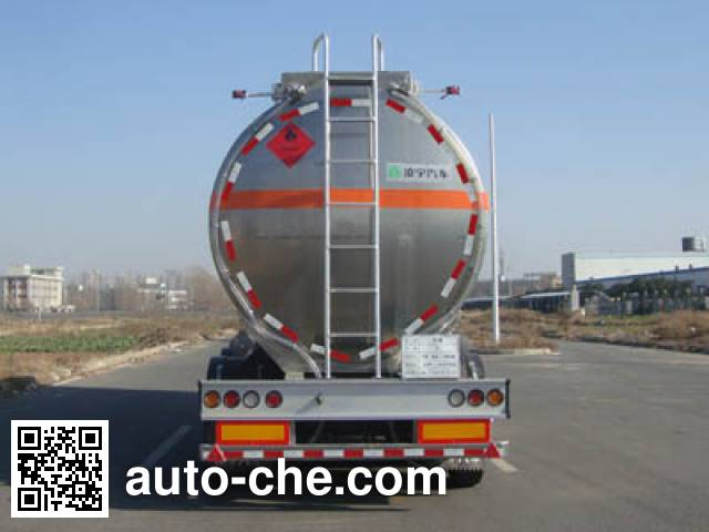 Lingyu CLY9401GRYF flammable liquid aluminum tank trailer