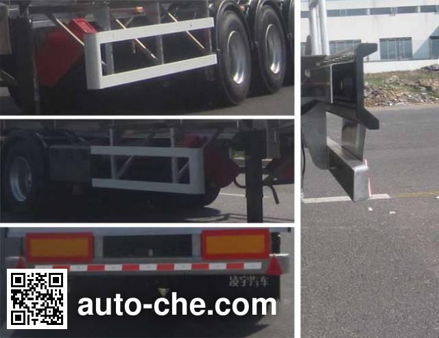 CIMC Lingyu CLY9401GRYM flammable liquid aluminum tank trailer
