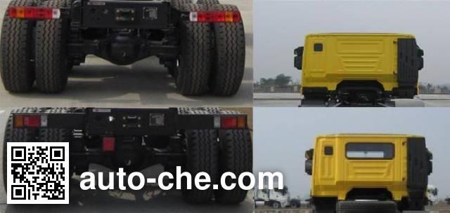 SAIC Hongyan CQ3255HTG35-455 dump truck chassis