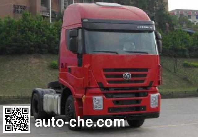 SAIC Hongyan CQ4185HTG361C container transport tractor unit