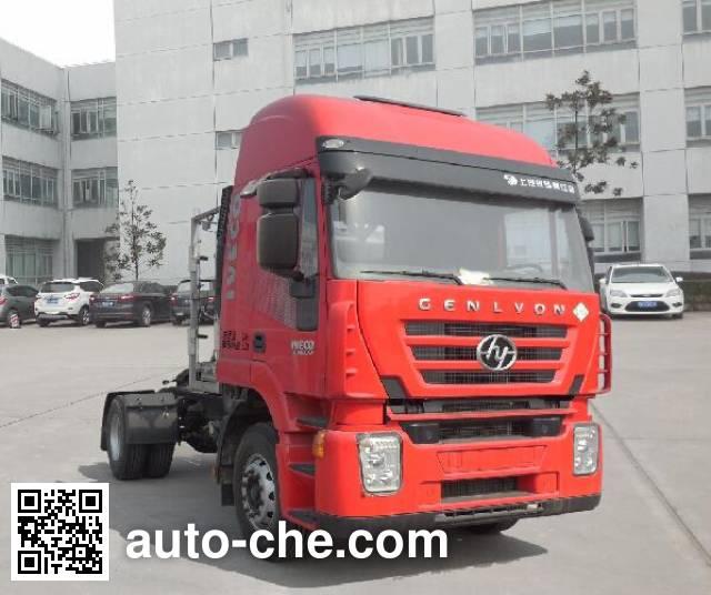 SAIC Hongyan CQ4186HTG38-441TAC container carrier vehicle
