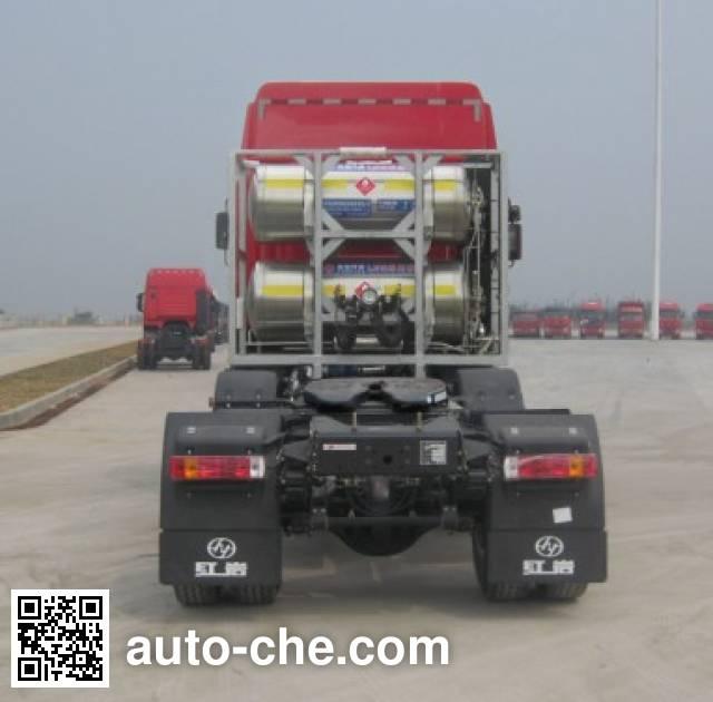 红岩牌CQ4256HTG303TC集装箱半挂牵引车