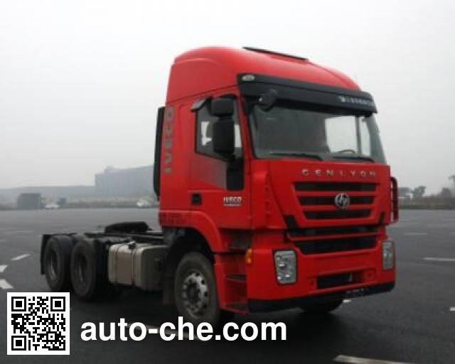 红岩牌CQ4256HXDG334C集装箱半挂牵引车