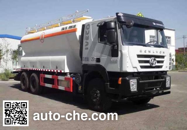 SAIC Hongyan CQ5255THRHTG504 emulsion explosive on-site mixing truck