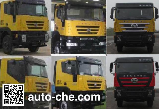 SAIC Hongyan CQ3255HMG424B flatbed dump truck