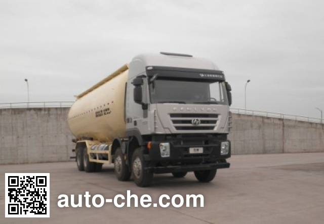 SAIC Hongyan CQ5316GFLHTG466TB low-density bulk powder transport tank truck