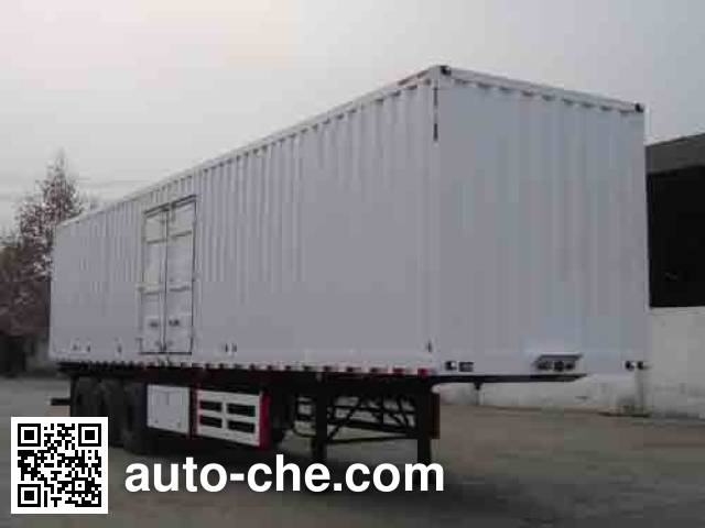 Dayun DYX9380X350A box body van trailer