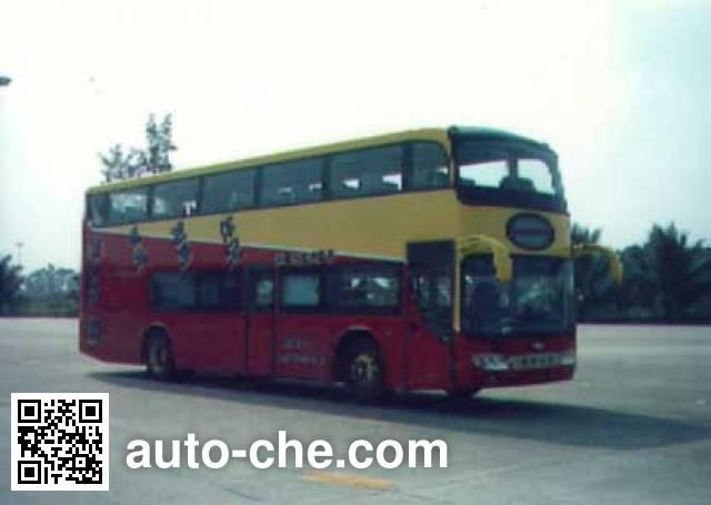 Emei EM6116HS Double decker luxury bus on ZJZ6112R chassis