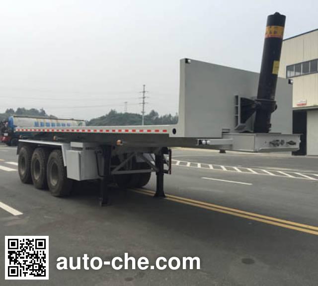 Dongfeng EQ9400ZZXPZMA flatbed dump trailer