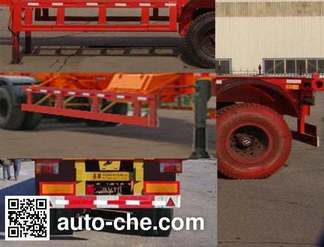 Changhua HCH9351TJZ container transport trailer