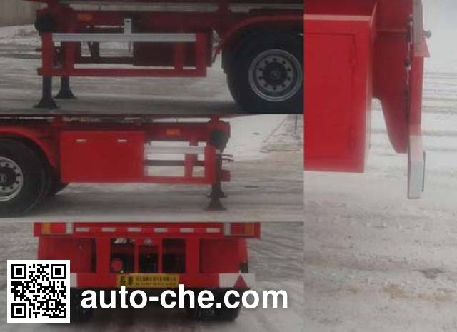 Changhua HCH9400GFW33 corrosive materials transport tank trailer