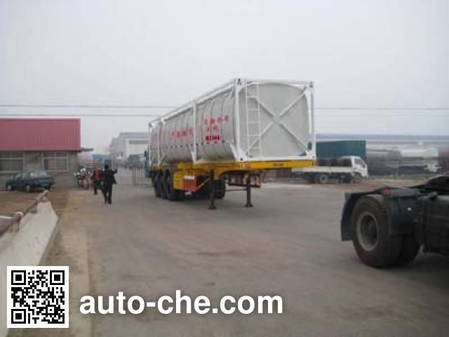 Changhua HCH9400GHYF chemical liquid transport frame tank trailer