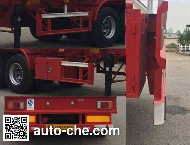 Changhua HCH9401GFWAS corrosive materials transport tank trailer