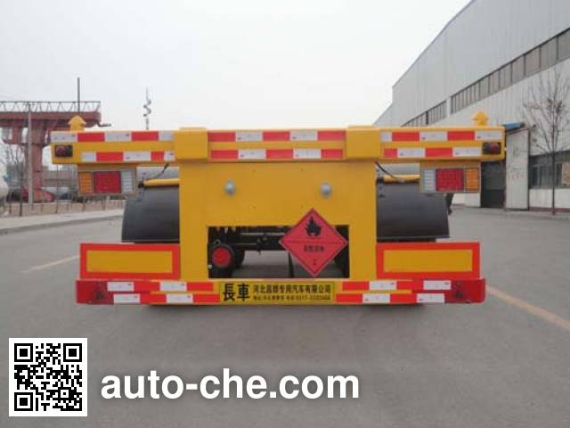 Changhua HCH9401TWY dangerous goods tank container skeletal trailer