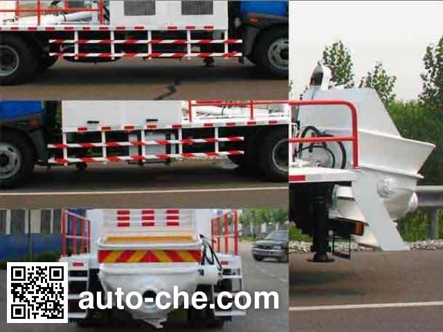 铁力士牌HDT5120THB车载式混凝土泵车