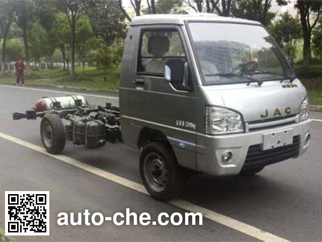 JAC HFC1030PW6T1B7DV dual-fuel truck chassis