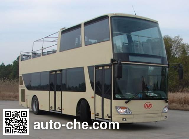 安凯牌HFF6110GS-1双层观光城市客车