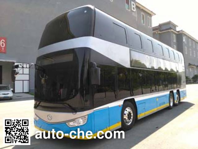 ankai hff6123gs03ev electric double decker city bus batch 291 made in china auto. Black Bedroom Furniture Sets. Home Design Ideas