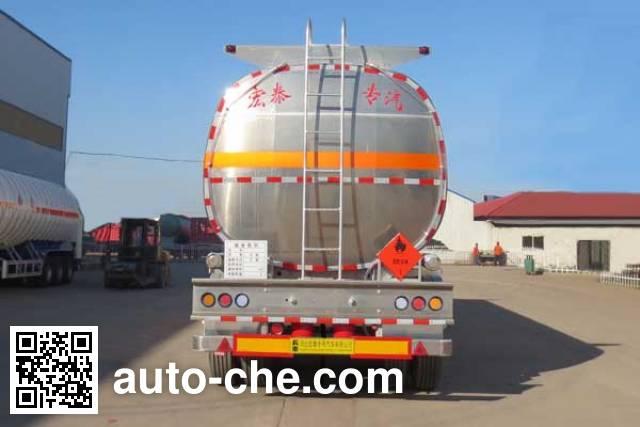 Zhengkang Hongtai HHT9407GYYA aluminium oil tank trailer