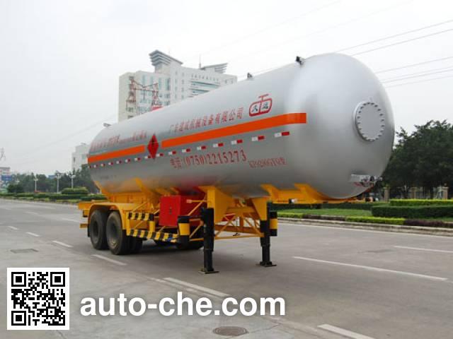 Jiuyuan KP9290GYQ liquefied gas tank trailer