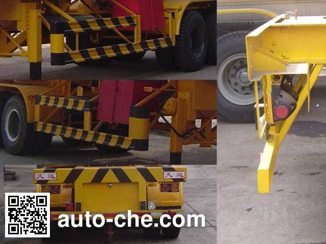Jiuyuan KP9340GYQ liquefied gas tank trailer