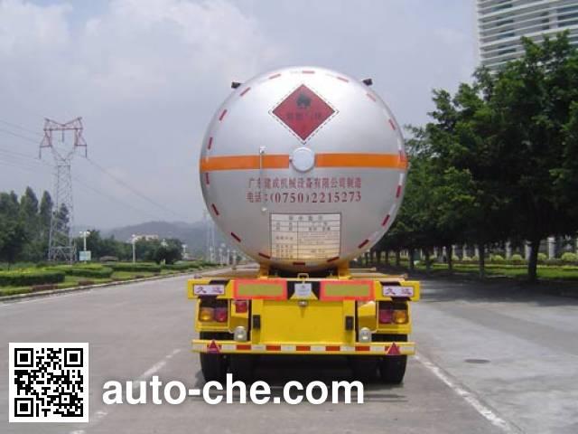 Jiuyuan KP9341GYQ liquefied gas tank trailer
