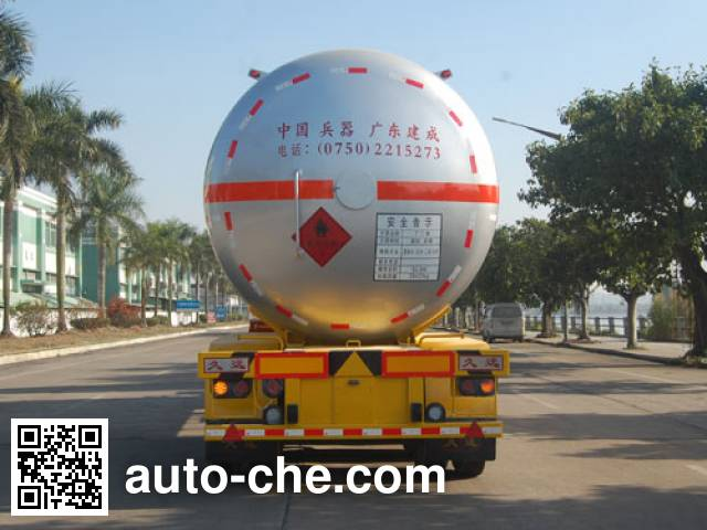 Jiuyuan KP9401GYQDB liquefied gas tank trailer