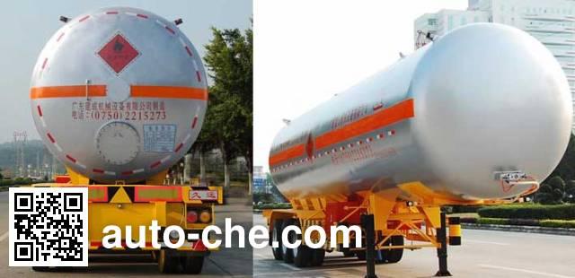 Jiuyuan KP9406GYQSD liquefied gas tank trailer