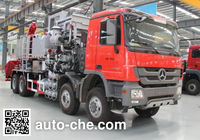 Kerui KRT5301THS12 Sand blender truck on Mercedes-Benz
