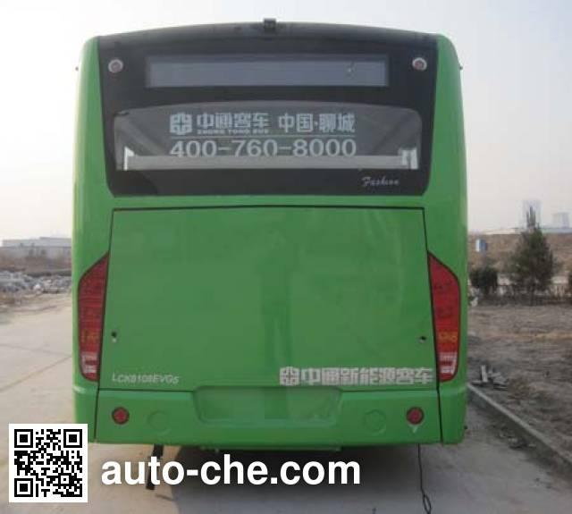 中通牌LCK6108EVG5纯电动城市客车