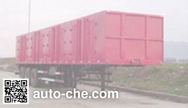 Chenglong LZ9390XXY box body van trailer