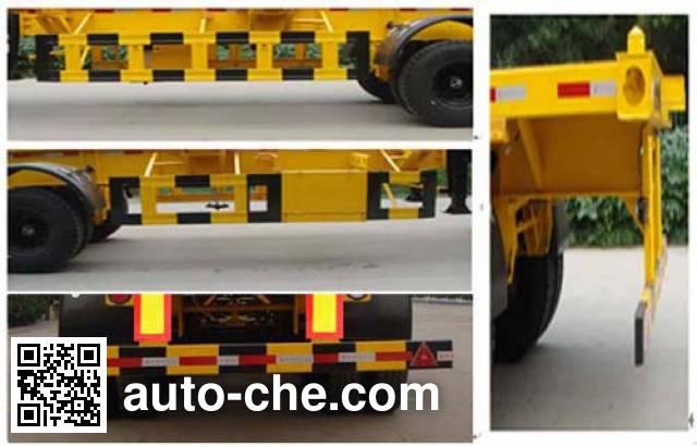 迅力牌LZQ9400TJZ集装箱运输半挂车