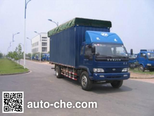 Yuejin NJ5150P-DDPW soft top box van truck