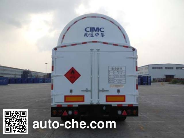 CIMC NTV9407GDY cryogenic liquid tank semi-trailer