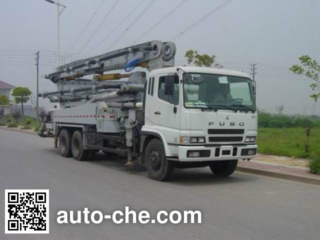 Jidong NYC5260THB Concrete pump truck on Mitsubishi FUSO