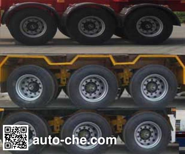 Jilu Hengchi PG9400TWY dangerous goods tank container skeletal trailer