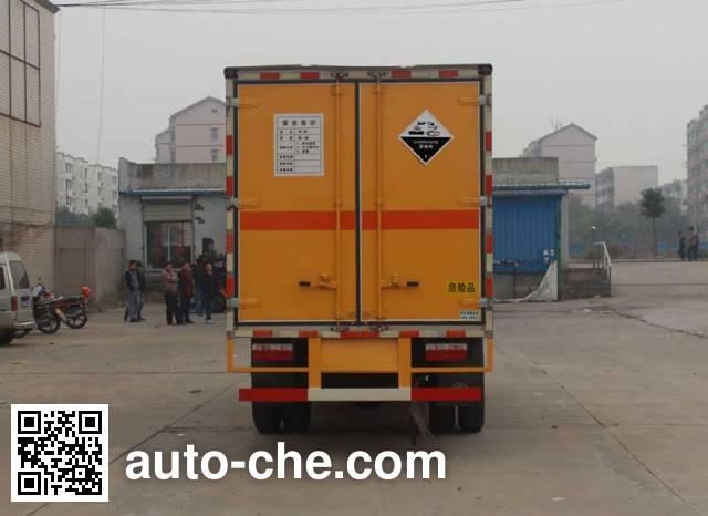 华威驰乐牌SGZ5118XFWDFA4腐蚀性物品厢式运输车