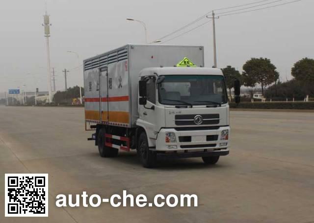 华威驰乐牌SGZ5168XFWD4BX5腐蚀性物品厢式运输车