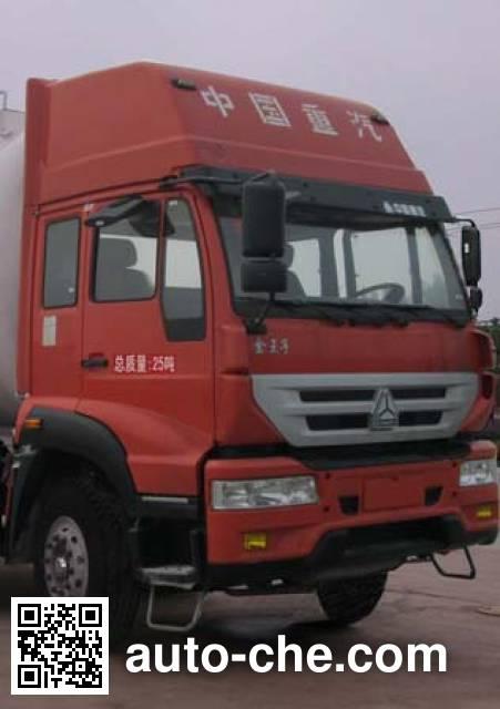 华威驰乐牌SGZ5250GFLZZ4J52低密度粉粒物料运输车